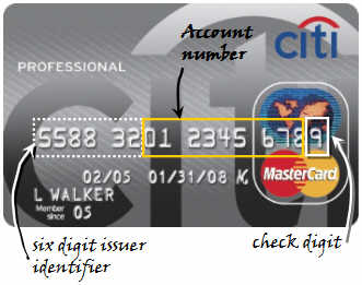 Engineering credit card without software